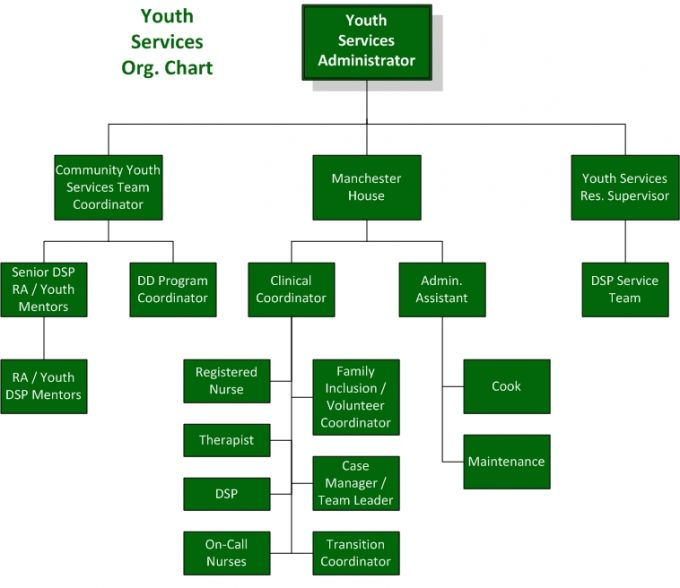 Org. Chart - Youth Services